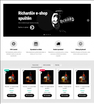Richardův e-shop spuštěn